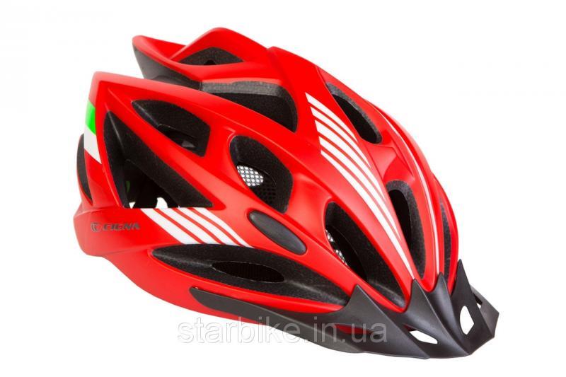Шлем велосипедный с козырьком СIGNA WT-036 L (58-61см) (красный)