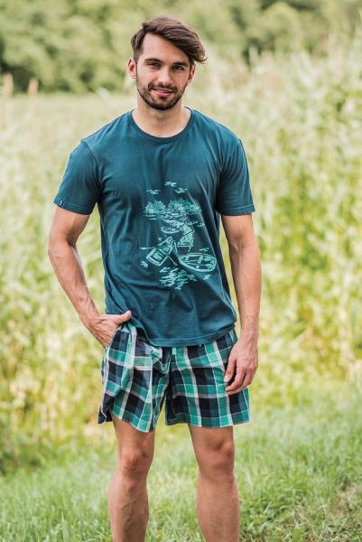 Пижамы мужские PIŻAMA KEY MNS-443 A19 Одежда для сна и дома Польша