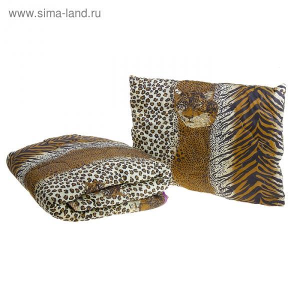 Комплект «Миродель»: одеяло 145х205 ± 5 см, подушка 50х70см - 2шт, холофан, МИКС