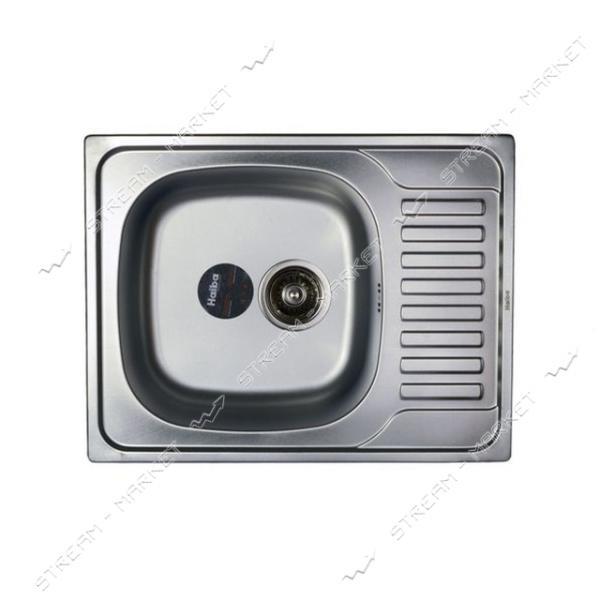 Мойка врезная Haiba 65х50 SATIN с сифоном