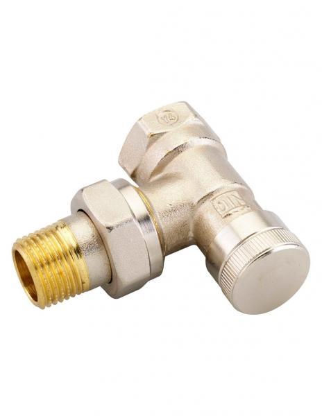 Клапан запорный угловой Danfoss RLV 15 никель 003L0143