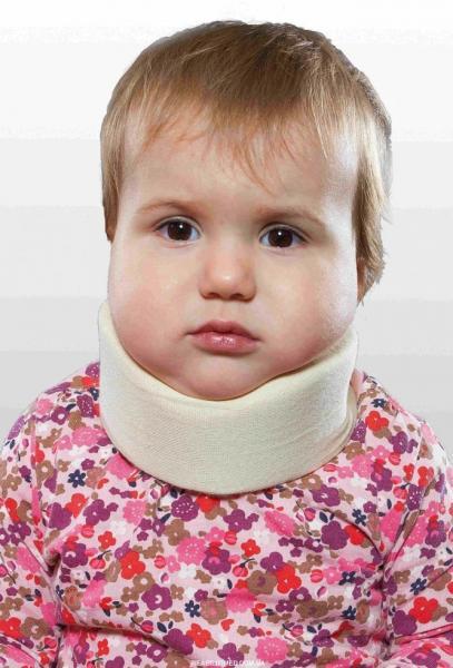 Бандаж для шеи детский, мягкий (шина Шанца), для новорожденных