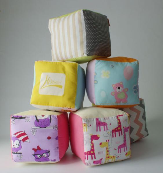 Комплект текстильных кубиков 20х20х20