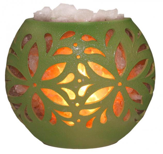 Соляная лампа Флора диск (керамика)