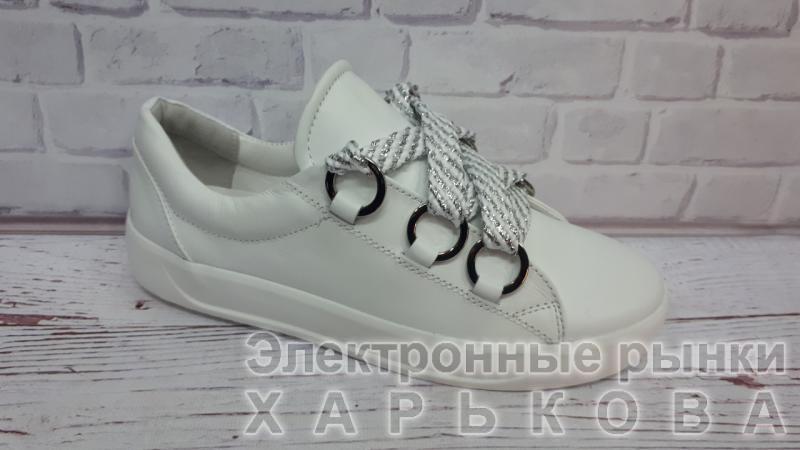 6b97d4e5 Кожаные кеды женские белые. Украина - Кроссовки, кеды женские на рынке  Барабашова