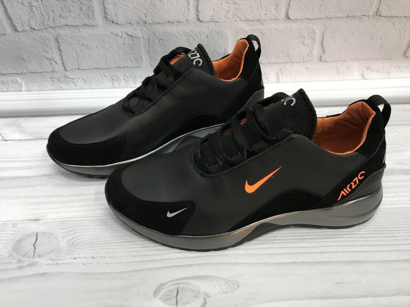 Мужские кожаные кроссовки Nike. Украина