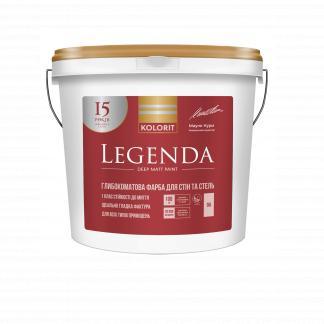 Краска для стен и потолков KOLORIT Legenda, А, 4,5л