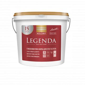 Краска для стен и потолков KOLORIT Legenda, C, 4,5л