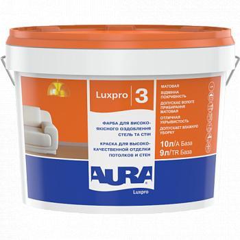 Краска для стен и потолков AURA Luxpro 3, А (белая), 5л