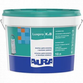 Краска для кухонь и ванных комнат AURA K&B, А (белая), 2,5л