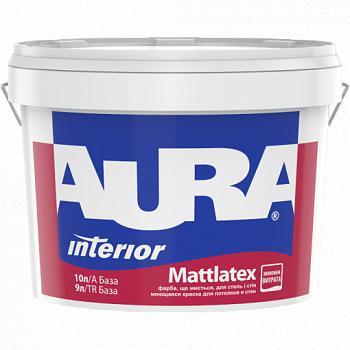 Краска для стен и потолков AURA Mattlatex, TR (прозрачная), 9л