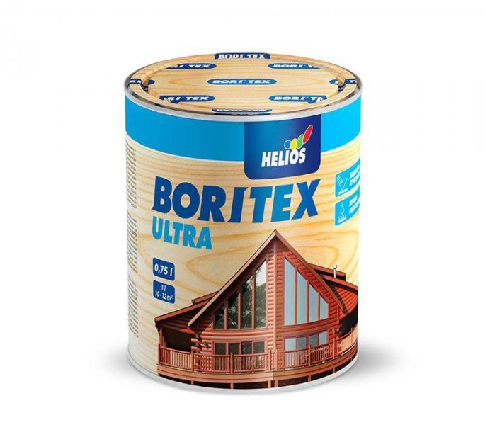 Лазурь для дерева с содержанием воска HELIOS BORITEX Ultra, орех, 0,75л