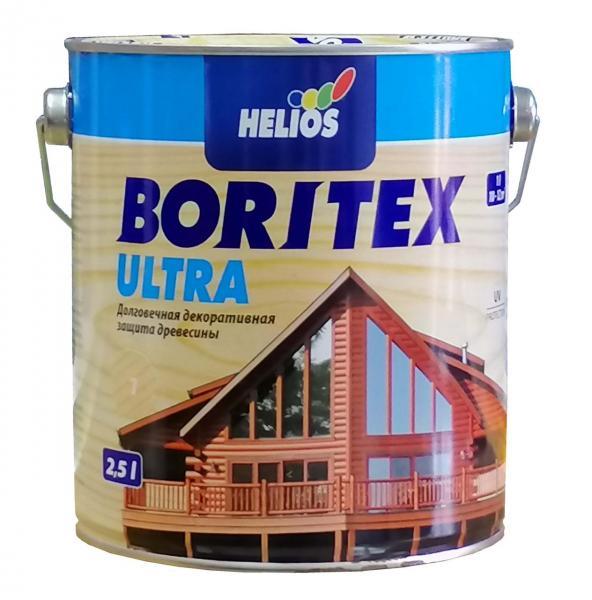 Лазурь для дерева с содержанием воска HELIOS BORITEX Ultra, черешня, 2,5л