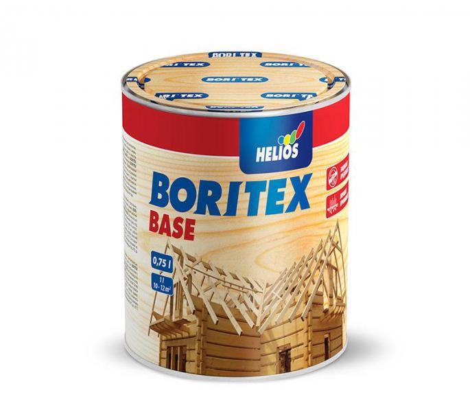 Грунтовочный антисептик для древесины HELIOS BORITEX Base, 0,75л