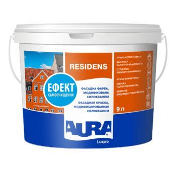 Силоксанмодифицированная (силиконовая) фасадная краска  AURA Luxpro Residens, TR (прозрачная), 9л