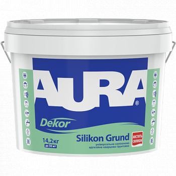 Адгезионная силиконовая грунтовка с кварцевым наполнителем AURA Dekor Silikon Grund, 2,5л