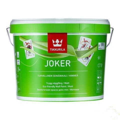 Интерьерная шелковисто-матовая краска Tikkurila Джокер (Joker), А (белая), 0,9л