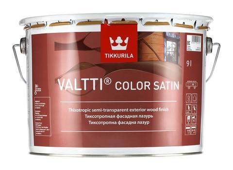 Фасадная лазурь на масляной основе с сатиновым блеском Valtti Color Satin, EC, 0,9л