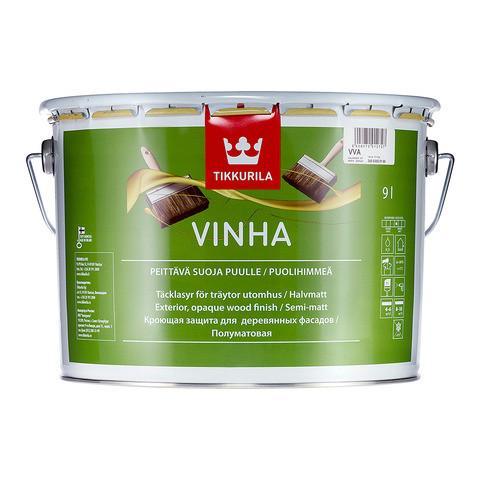 Полуматовая защитная краска для древесины Винха (Vinha), Tikkurila, VC, 0,9л