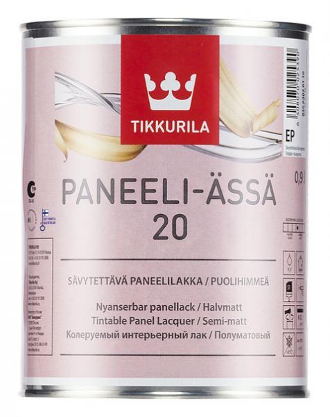 Полуматовый акрилатный панельный лак Панели-Ясся (Paneeli-assa), Tikkurila, EP, 0,9л