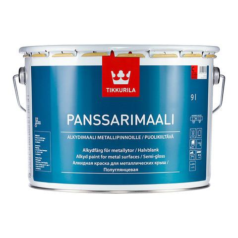 Полуглянцевая алкидная краска для металла Панссаримаали (Panssarimaali), Tikkurila, C, 2,7л