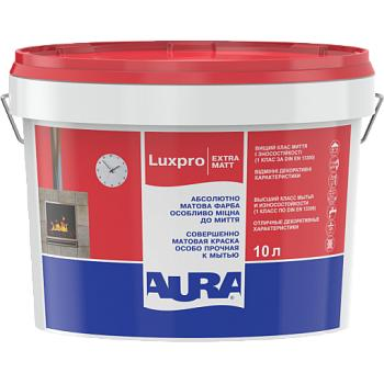 Краска для стен и потолков AURA Luxpro ExtraMatt, TR (прозрачная), 9л