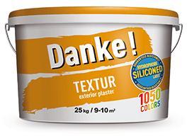 """Фасадная штукатурка """"короед"""", силиконмодифицированная, DEUTEK Danke! Textur 15, 25кг"""