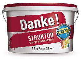 """Фасадная акриловая силиконмодифицированная штукатурка с фактурой """"шуба"""" DEUTEK Danke! Struktur, 25кг"""