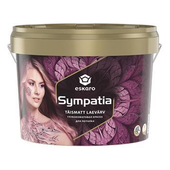 Глубокоматовая акрилатная краска для потолков ESKARO Sympatia, 9,5л