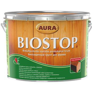 Биозащитная грунтовка для древесины ESKARO Aura Biostop, 9л