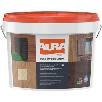 Декоративно-защитное средство для древесины ESKARO AURA ColorWood Aqua, 9л
