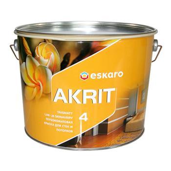 Глубокоматовая краска для потолков и стен ESKARO Akrit 4, 9,5л