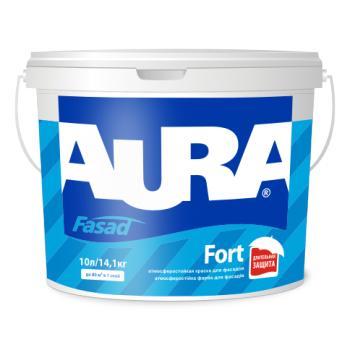 Атмосферостойкая фасадная краска  AURA Fasad Fort, TR (прозрачная), 9л