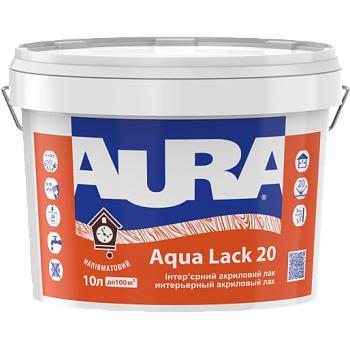 Водоразбавимый панельный интерьерный полуматовый лак AURA Aqua Lack 20, 10л