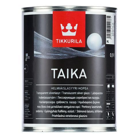 Тайка (Taika) Tikkurila декоративная перламутровая лазурь, HL (серебристая),  0,9л