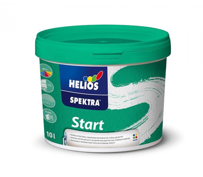 Моющаяся краска для стен и потолков HELIOS SPEKTRA Start, 2л