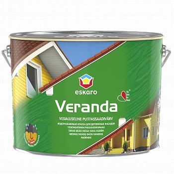Защитная краска для деревянных фасадов Eskaro Veranda, TR, 9л