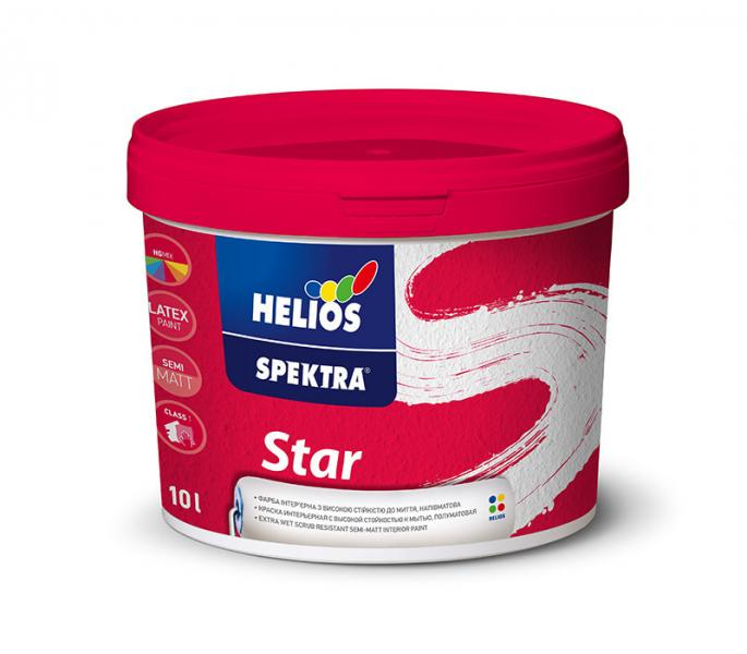 Ультрамоющаяся краска для стен и потолков HELIOS SPEKTRA Star, 5л