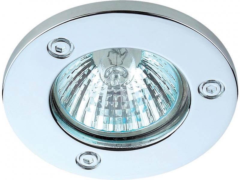 Спот - встраиваемый светильник 1хGU10х50W, хром, L6052 не поворотный