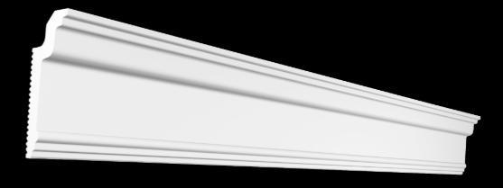 Потолочный плинтус 2м   GPX-3  80х30 mm для натяжных потолков