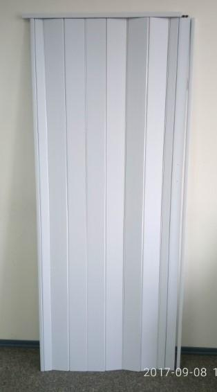 Дверь гармошка глухая 810 х 2030  Белая
