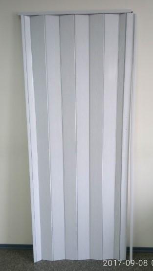 Дверь гармошка глухая 810 х 2030 Ясень