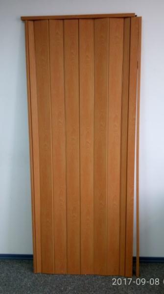 Дверь гармошка глухая 1000х2030мм. Вишня