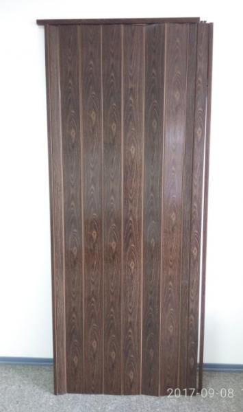 Дверь гармошка глухая 1000х2030мм. Орех