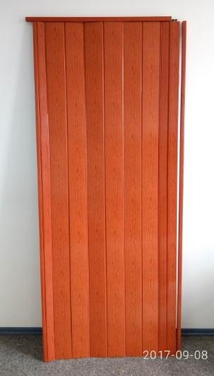 Дверь гармошка глухая 810 х 2030  Ольха Красная