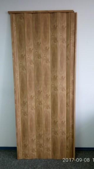 Дверь гармошка глухая 810 х 2030 Вяз