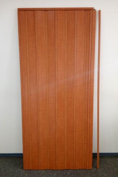 Дверь гармошка глухая ЭЛИТ  880х2030х10мм Ольха