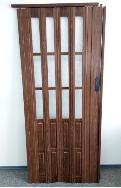 Дверь гармошка 860х2030х12мм. Дуб (7063)