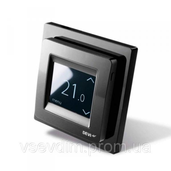 Терморегулятор DEVIreg Touch черный програм. с дисплеем (140F1069)