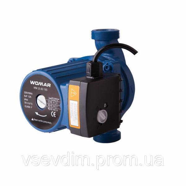 Насос циркуляционный WOMAR 25/80/180 ( гайки + кабель с вилкой )